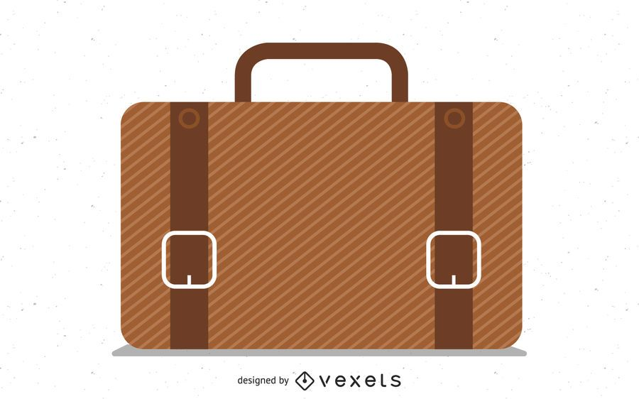 Ícono maletín marrón