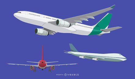 Schönes Flugzeugpaket