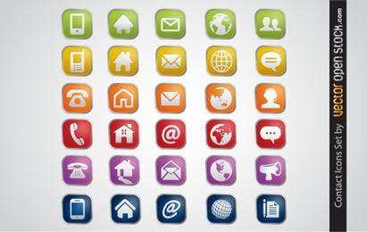 Conjunto de ícones de contato