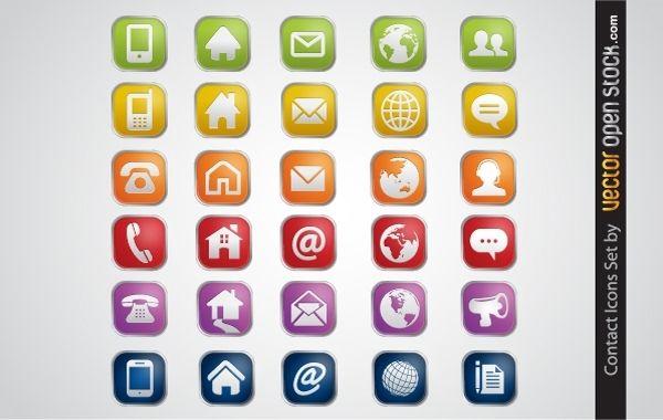 Conjunto de iconos de contacto
