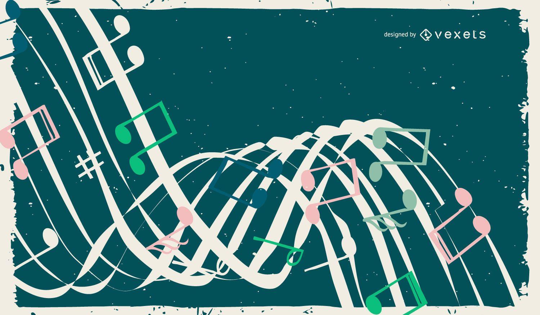 Fondo Grunge musical abstracto