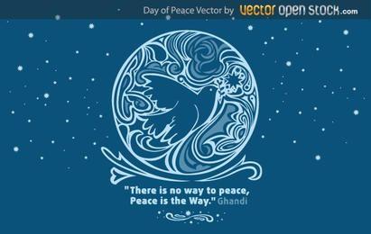 Dia de la paz vector