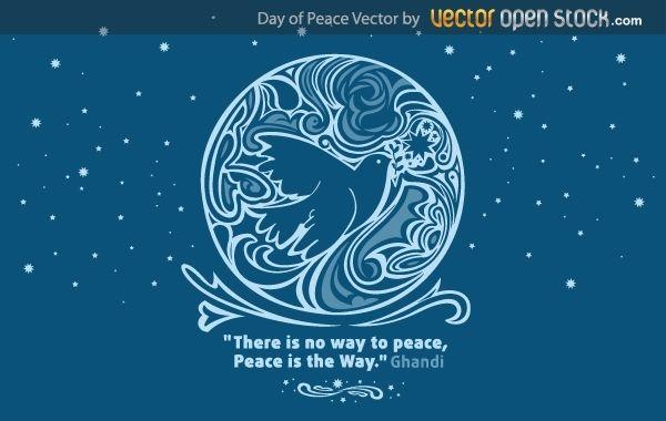 Vector de dia de la paz