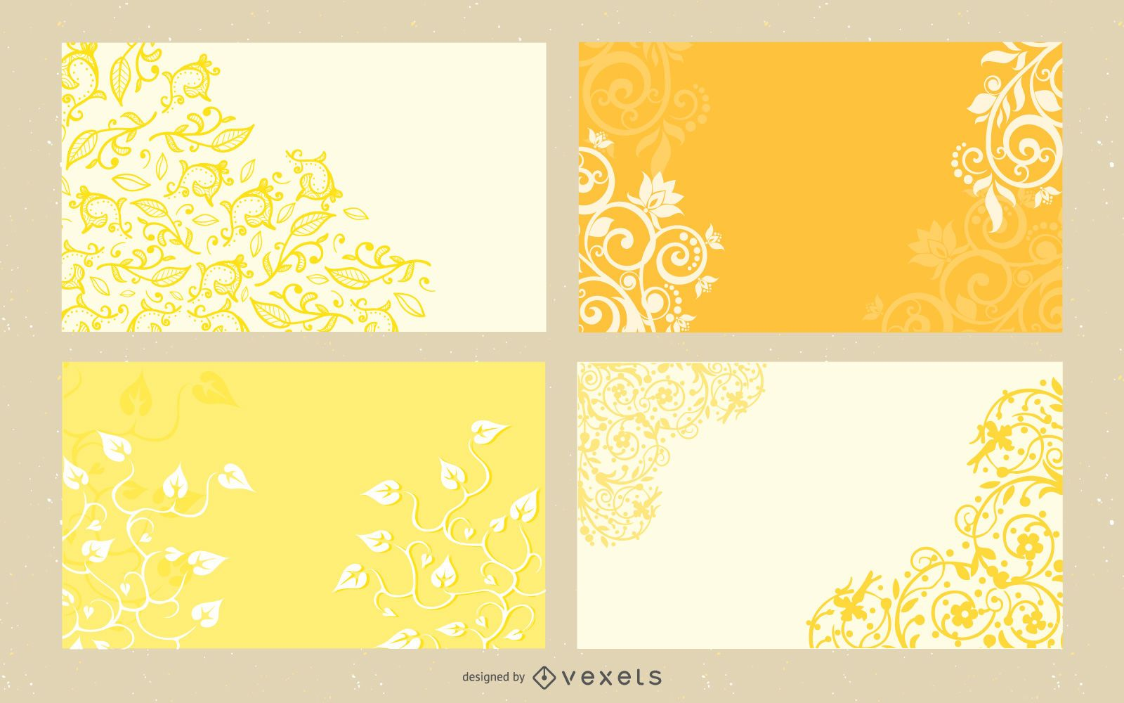 Curly Floral and Swirls Layout Pack