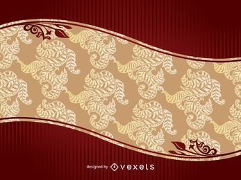 Reddish and Golden Template Greetings