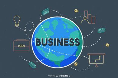 Globales Geschäft auf der ganzen Welt
