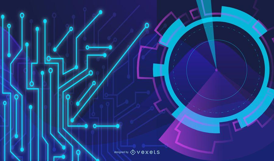Layout da Tecnologia Fluorescente Dinâmica