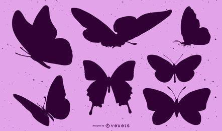 Paquete de mariposa negro
