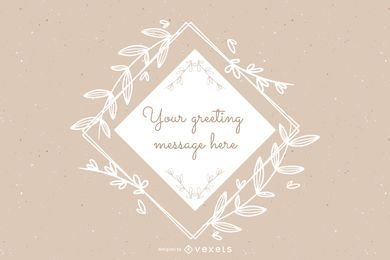 Ornamental Template Greetings Layout