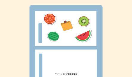 10 ímãs de geladeira de frutas!