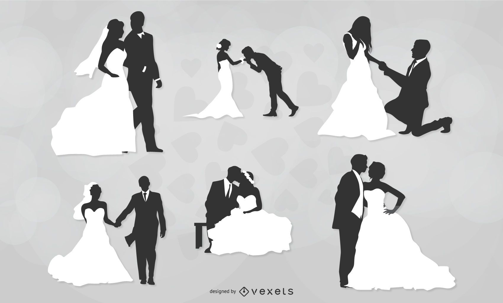 Marriage Couple Black and White Pack