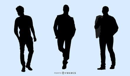 Modelo masculino paquete silueta