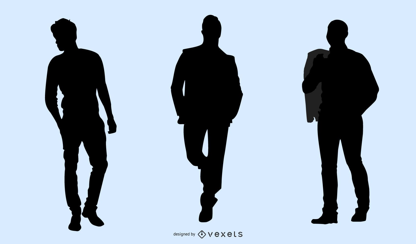 Male Model Pack Silhouette
