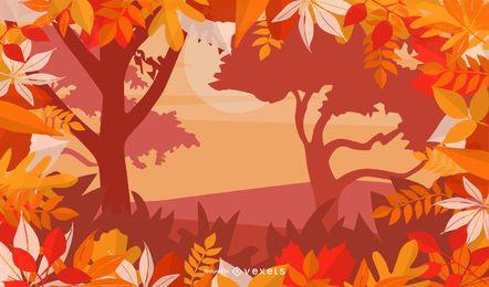 Layout de outono de florescer