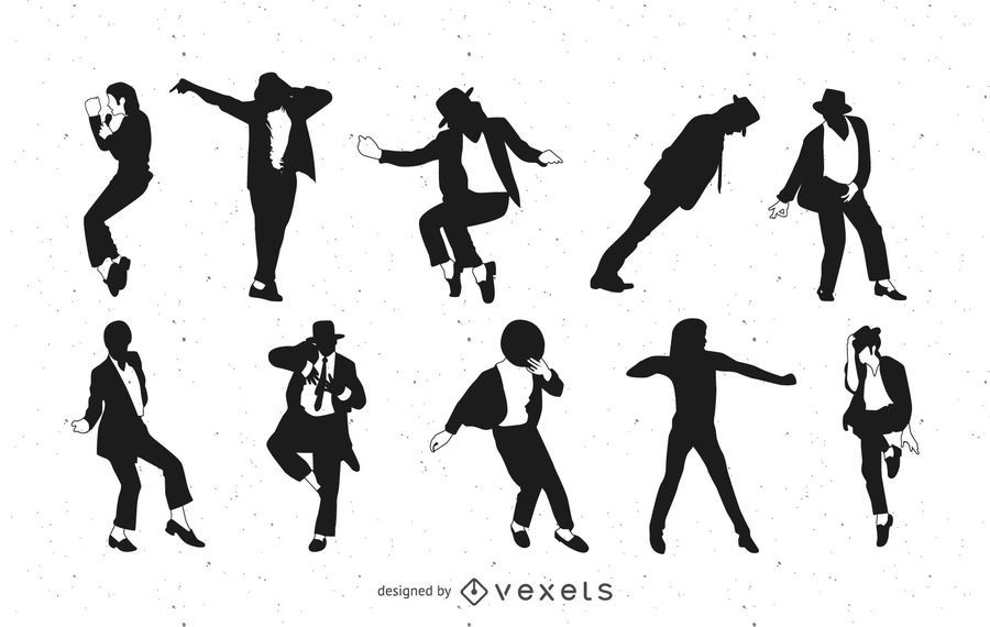Pacote De Danca De Michael Jackson Baixar Vector