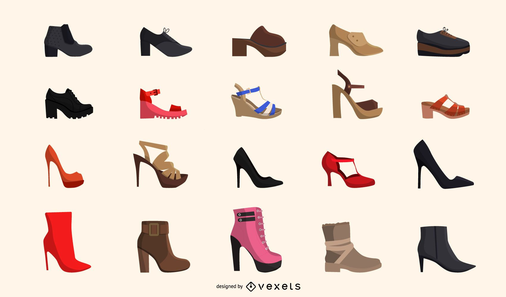 Fashionable Ladies Shoe Pack