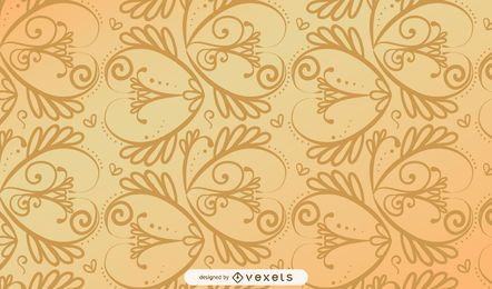Seamless Spiral Golden Vintage Pattern