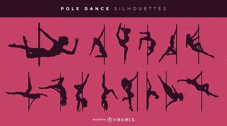 Sexy Pole Dance Pack Silhouette