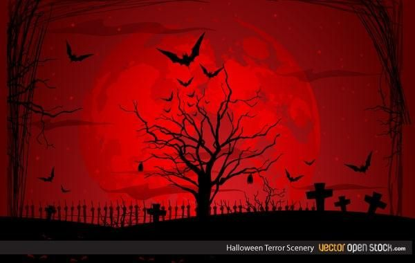 Cenário Terror do Dia das Bruxas