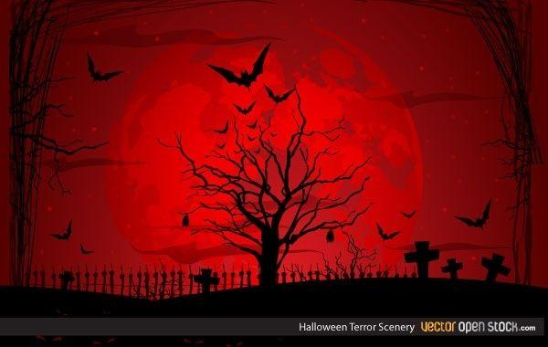 Paisaje de terror de Halloween