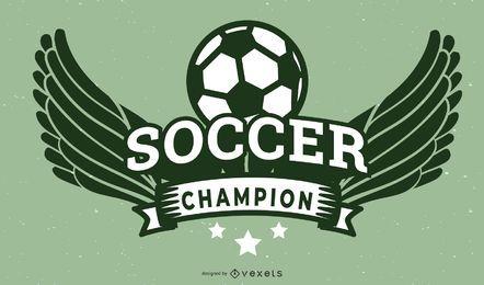 Celebração de campeão de futebol