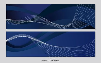 Layout de Banner de modelo azul meia-noite
