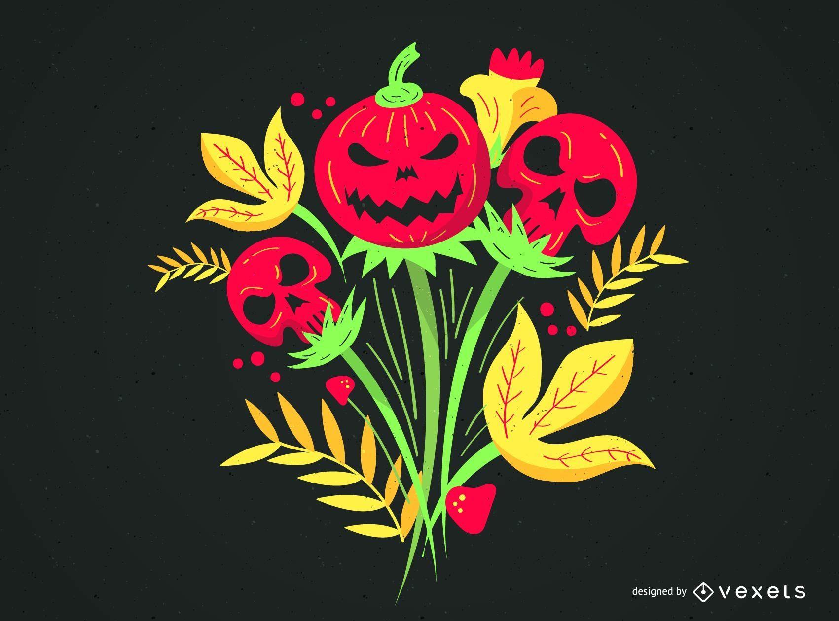 Coisas psicodélicas de Khokhloma para Halloween