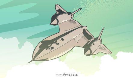Voo de aeronave vintage