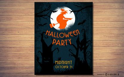 Tree Halloween Party Flyer