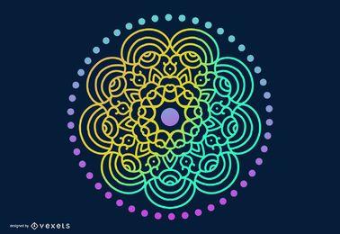 Psychedelische aztekische Art-Verzierung