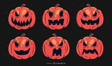 Assustador Halloween Mad Set Abóbora