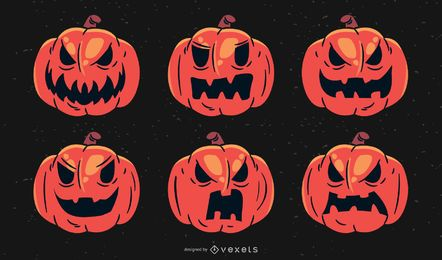 Scary Halloween Mad Kürbis-Set