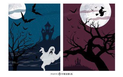 Halloween Nacht Poster Pack