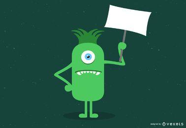 Monster 404 Error Illustration
