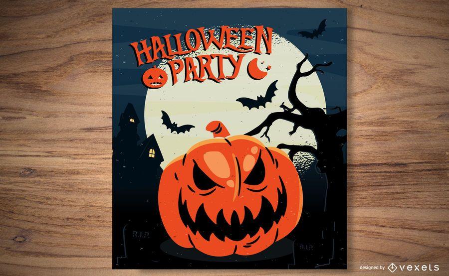 Halloween Pumpkin Template Flyer