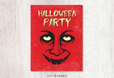 Halloween-Vampir Flyer Vorlage