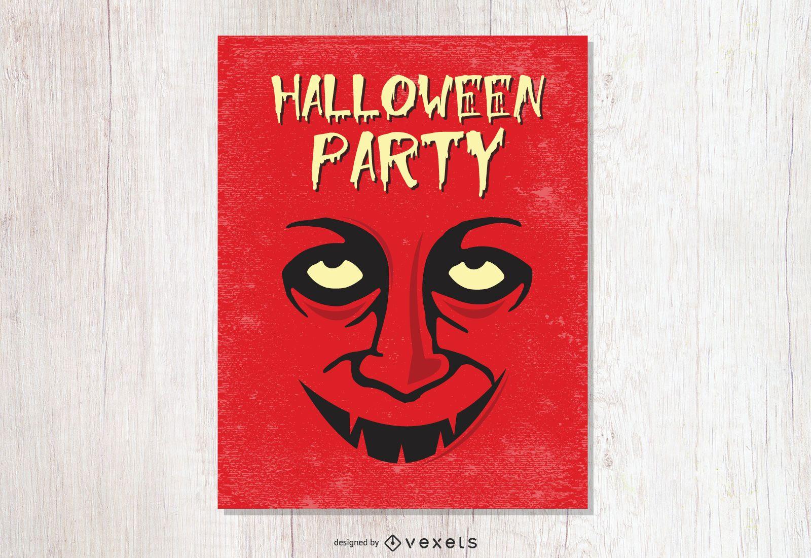 Halloween Vampire Flyer Template