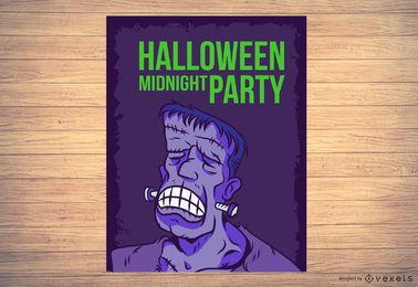 Frankenstein Halloween Flyer Template