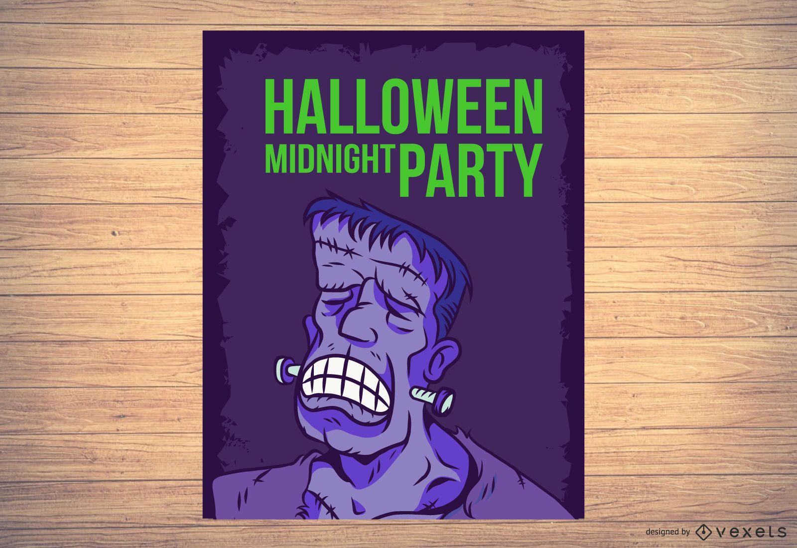 Modelo de folheto Frankenstein para o Dia das Bruxas