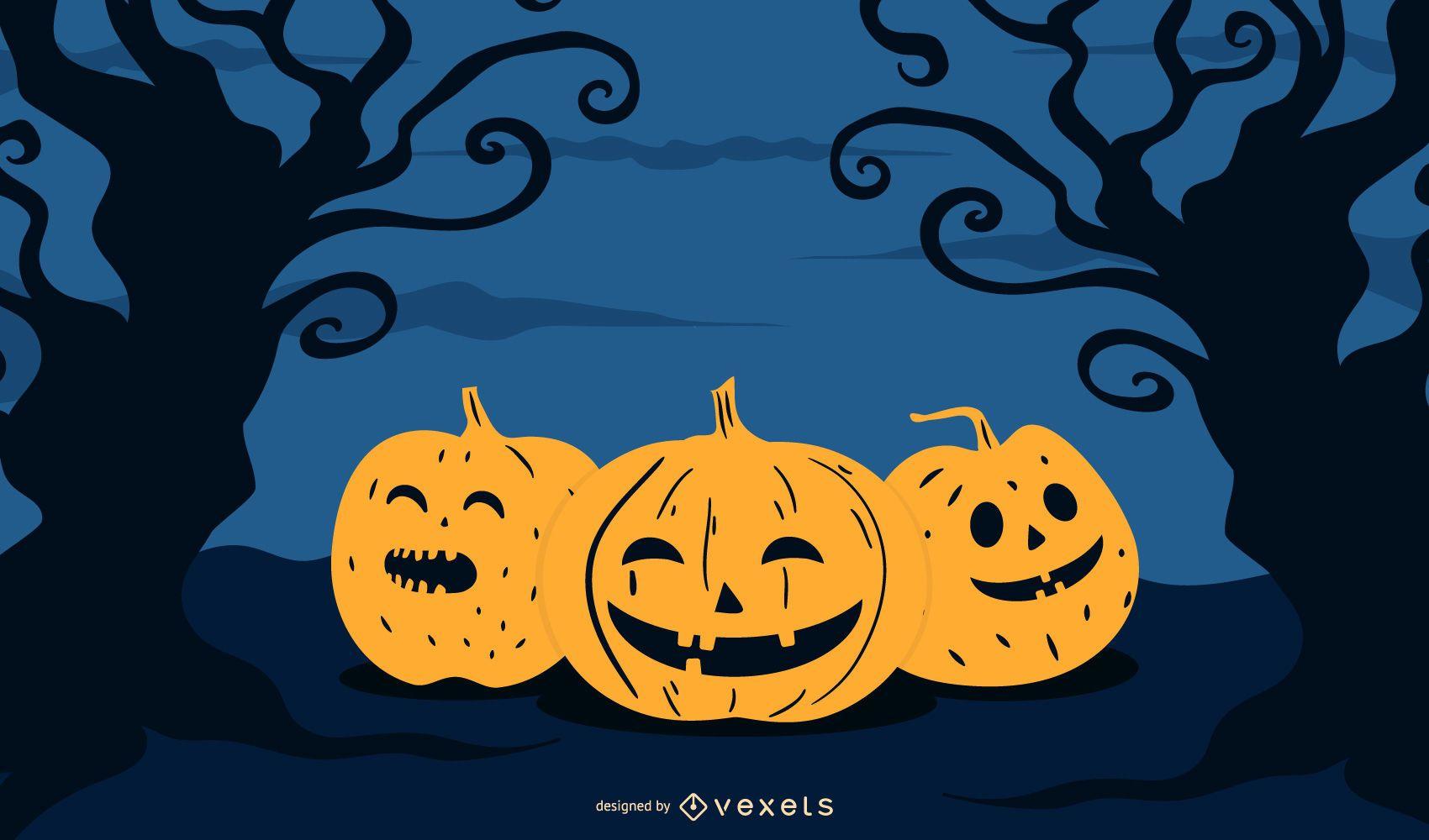 Cartel de la invitación de Halloween
