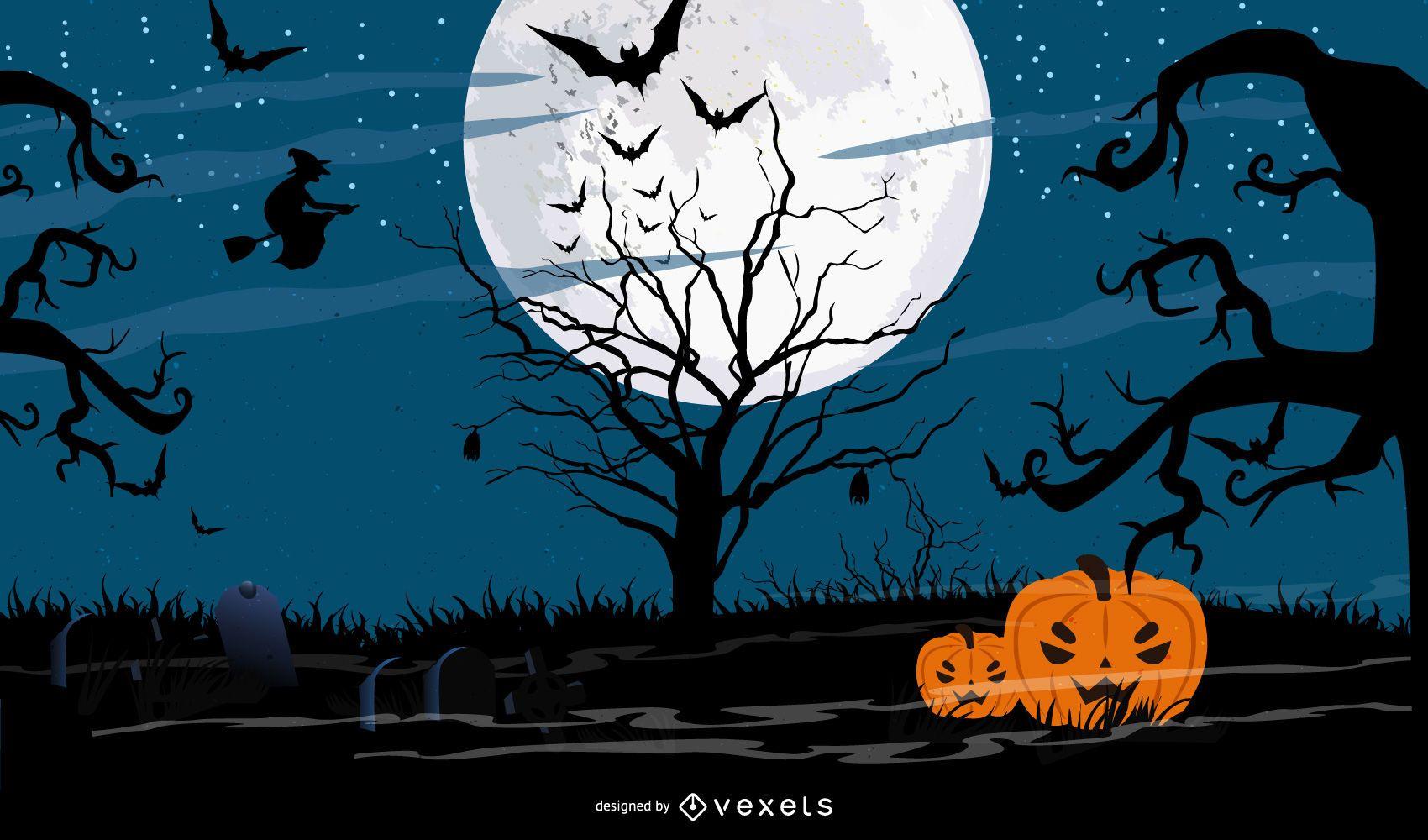 Dark Haunted Halloween Night
