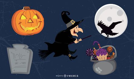 Funky Halloween-Objektpaket