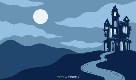 Arte dos desenhos animados do Dia das Bruxas
