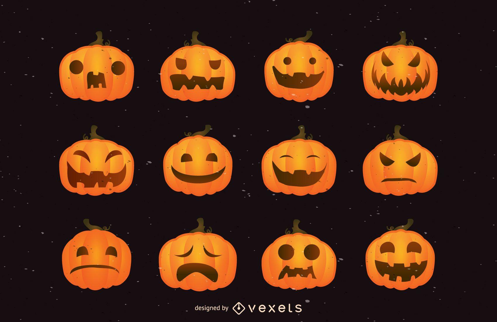 Funny Pumpkin Face Pack