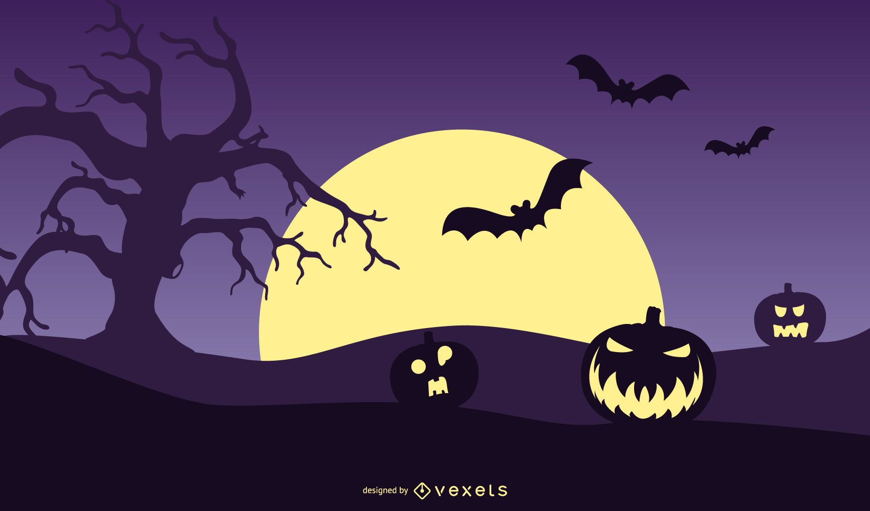 Pumpkin Halloween Night Poster
