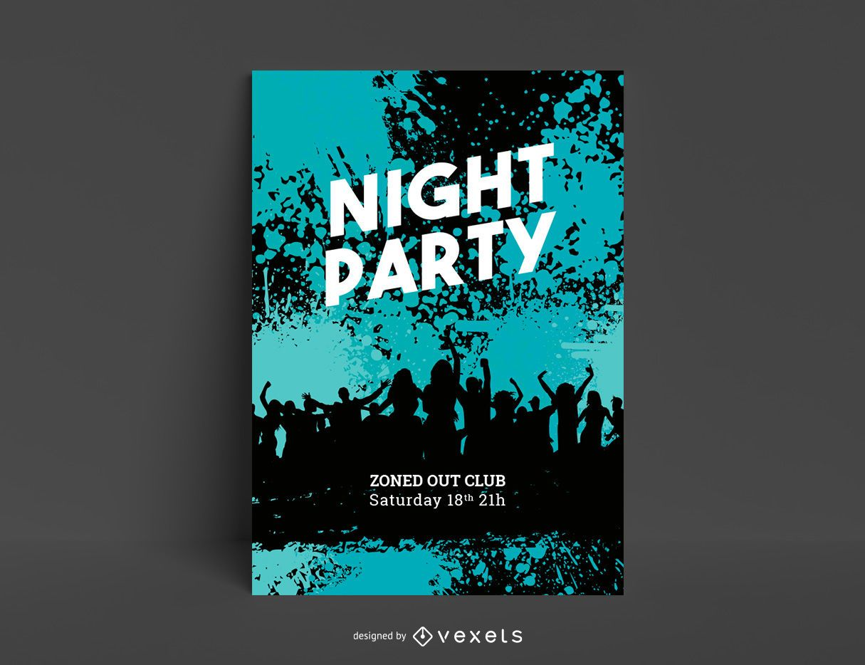 Grungy Musical Template Party Flyer