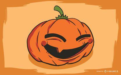 Arte lindo de Halloween con calabazas