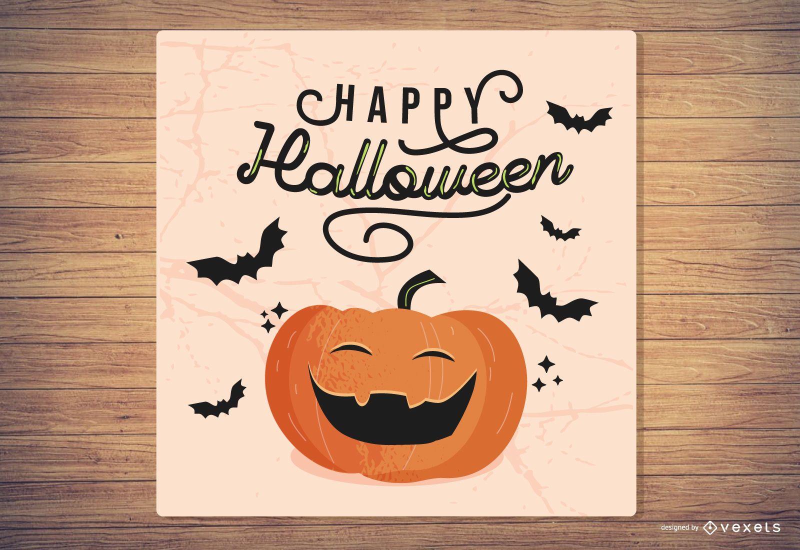 Feliz tarjeta de felicitaci?n de halloween