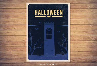 Grungy Vintage Halloween Poster