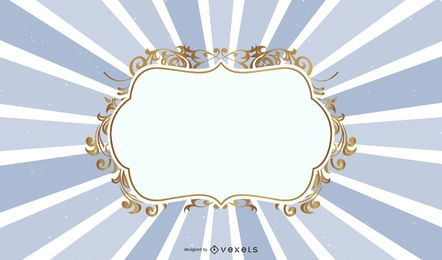 Golden Floral Royal Frame